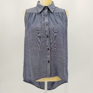 CAbi | High Low Button Up Tunic Top - Size Small